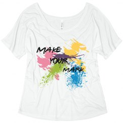 scoop neck make your mark tee