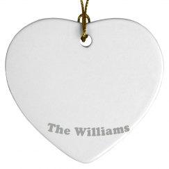 The Williams ornament