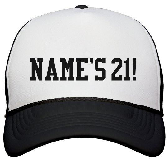 Custom 21st Birthday Party Snapback Trucker Hat
