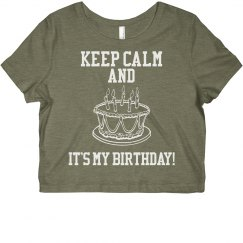 Birthday Cropped Tee