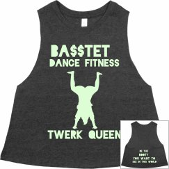 Twerk Queen Racerback Cropped Tank - GLOW IN THE DARK