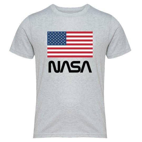 6132f68ce Vintage NASA American Flag Pride Youth Triblend T-Shirt