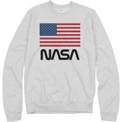 Retro NASA Worm American Flag