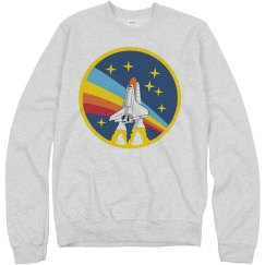 Vintage NASA Rainbow Space Logo