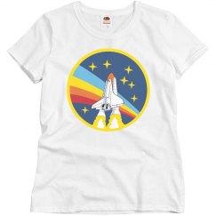 Retro NASA Rainbow Logo Science