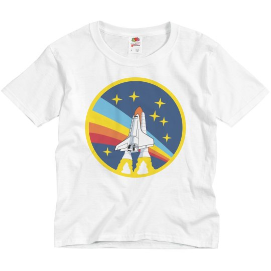 aac3e89b Vintage NASA Kids Space Explorer Youth Basic Promo T-Shirt