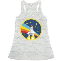 Vintage Science NASA Rainbow Logo