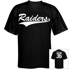 Raiders custom name and number sports jersey
