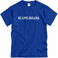 We Love Natasha (Men's) Distressed font