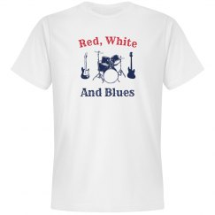 Red, White and Blues, with drums and guitars