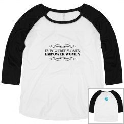 Empowered Women Curvy Girl Baseball Tee