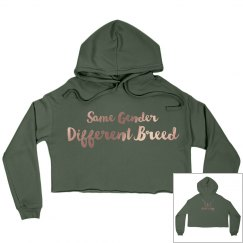 """Women's """"Different Breed"""" Crop Sweater"""
