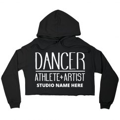 Custom Dancer Studio Crop Sweatshirt