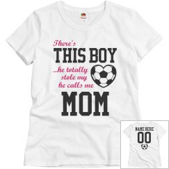 Custom Soccer Boy's Biggest Fan