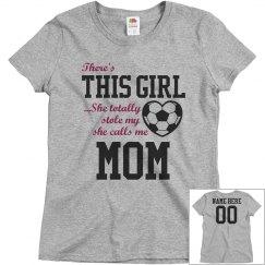 Custom Soccer Girl's Biggest Fan