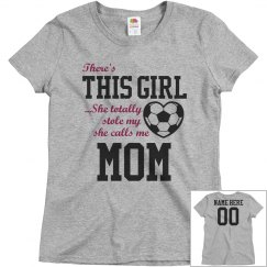 Custom Soccer Girl's Biggest Fan