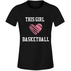 This girl loves basketbal