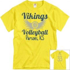 Vikings Volleyball Yellow Personalized