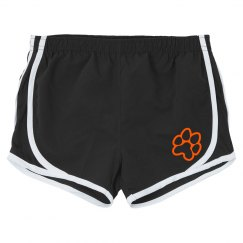 women's running shorts paw print