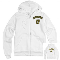FOSTER WARMUP HOODIE WHITE/GOLD