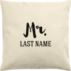 Mr. & Mrs. Custom Last Name Pillowcase
