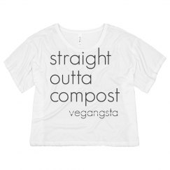 straight outta... crop top tee