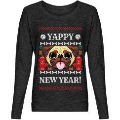 Yappy New Year Pug