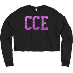 Ladies Relaxed Fit Cropped Fleece Crew