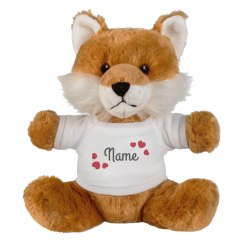 Add A Name In Hearts Custom Fox