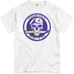 P/R - Beret Skull Knife O-4, White Tee