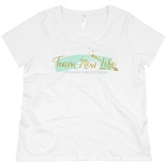 Team New Life Plus Sized Curvy Flowy Tee