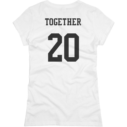 561740793d Together Since Couple Shirts Ladies Slim Fit Basic Promo Jersey T-Shirt