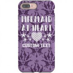 Mermaid At Heart Custom iPhone Case