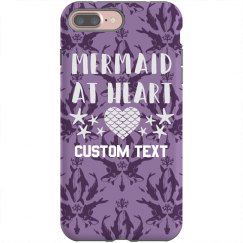 Mermaid At Heart Custom iPhone Case