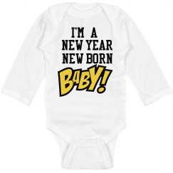 New year infant outfit