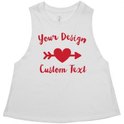 Design Your Custom Valentine's Day Crop Racerback