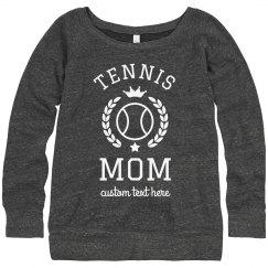 The Tennis Mom Custom Text Spring Sports
