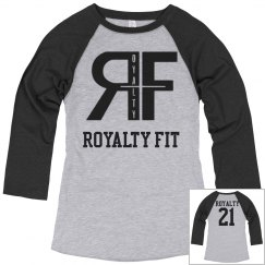 Ladies Relaxed Fit 3/4 Sleeve Raglan Tee #22