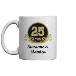 25th Anniversary Personalized Mug