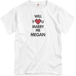 Will you marry me Megan?