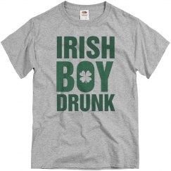 St Pats Irish Boy Drunk Shamrock