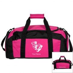 Pink Customizable Duffle Bag