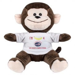 I'm Bananas  4 GSC 8 Inch Monkey Stuffed Animal