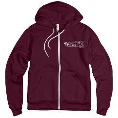 Unisex Fleece Full Zip Midweight Hoodie MAROON