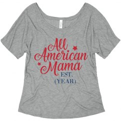 79581640416 All American Mama 4th Of July Promo Ladies Curvy Plus Size Scoopneck ...