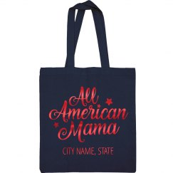 Metallic All American Mama July 4th