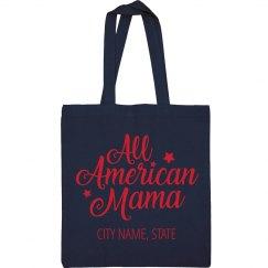 Metallic All American Mama July 4th