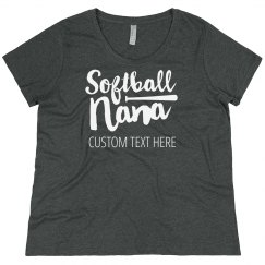 Plus Size Softball Grandma Custom