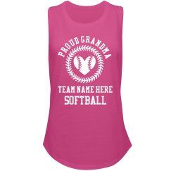 Proud Softball Grandma Custom Team