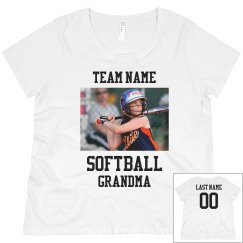 Upload Your Photo Softball Grandma